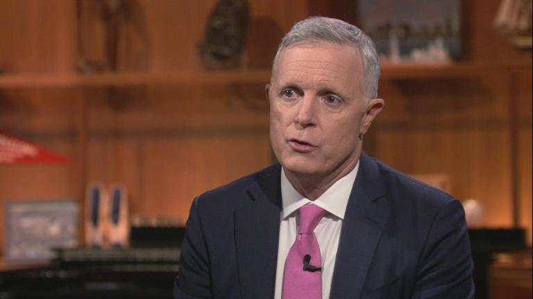 "Deputy Gov. Dan Hynes appears on ""Chicago Tonight"" on Nov. 26, 2019. (WTTW News)"