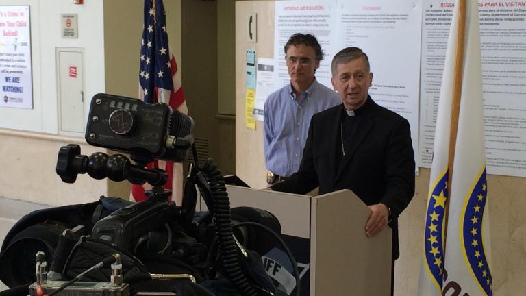 Archbishop Blase Cupich, Sheriff Tom Dart