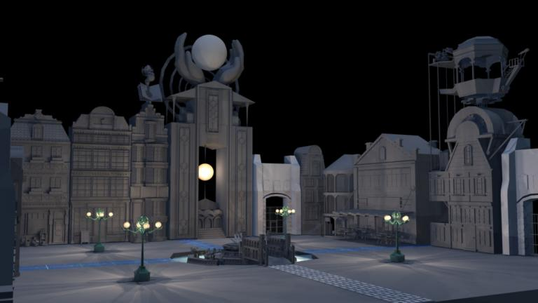 """A still image from the video game """"Soteria,"""" created at the Deep Games Laboratory at DePaul University's School of Design."""