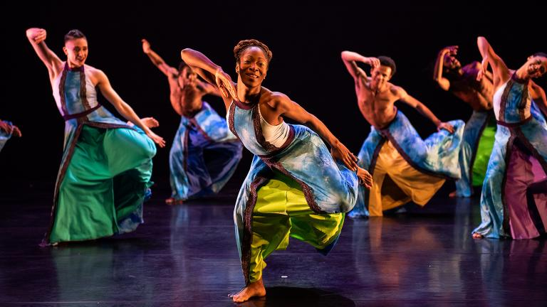 """Deeply Rooted Dance Theater company in """"Heaven."""" (Photo by Michelle Reid)"""