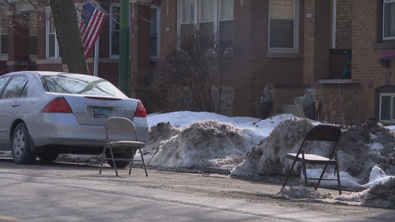 The city will begin hauling away dibs placeholders on March 2. (WTTW News)