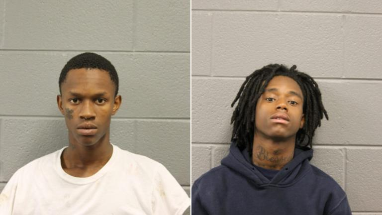 Dimari Terry, left, and Tramaine Watson were each charged with multiple felonies Wednesday. (Chicago Police Department)