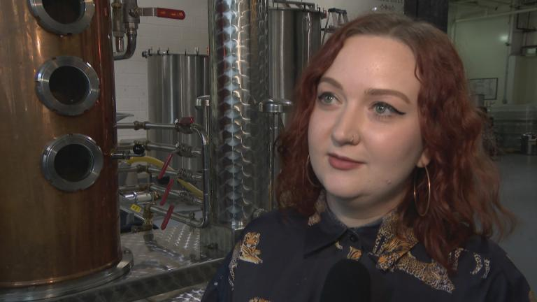 Rhine Hall Distillery general manager Adira Hanna (WTTW News)