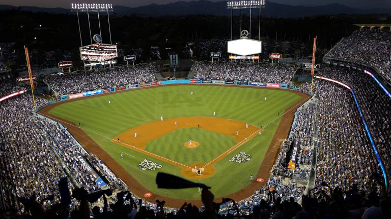 In this Oct. 25, 2017, file photo, the Houston Astros and the Los Angeles Dodgers play in Game 2 of the baseball World Series at Dodger Stadium in Los Angeles. (AP Photo / Tim Donnelly, File)