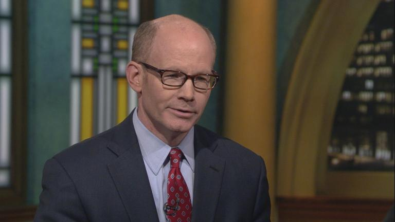 "Illinois Senate President Don Harmon appears on ""Chicago Tonight"" on Wednesday, Jan. 22, 2020. (WTTW News)"