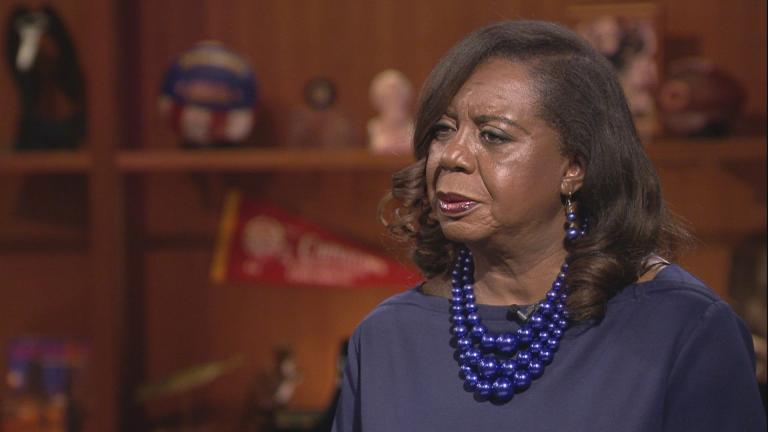 "Dorothy Brown appears on ""Chicago Tonight"" in April 2018. On Tuesday, Jan. 22, 2019, Brown was kicked off the ballot in the Chicago mayor's race."