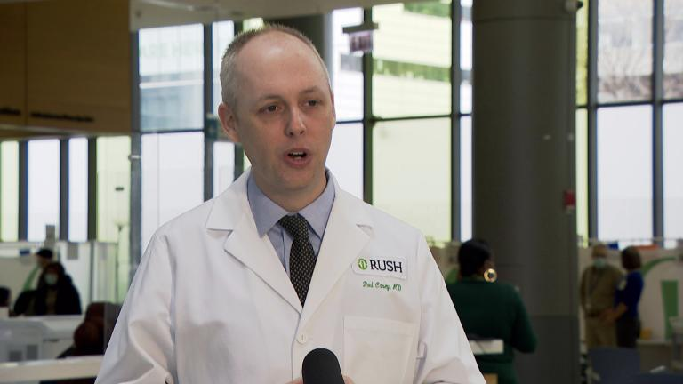 Dr. Paul Casey or Rush University Medical Center. (WTTW News)