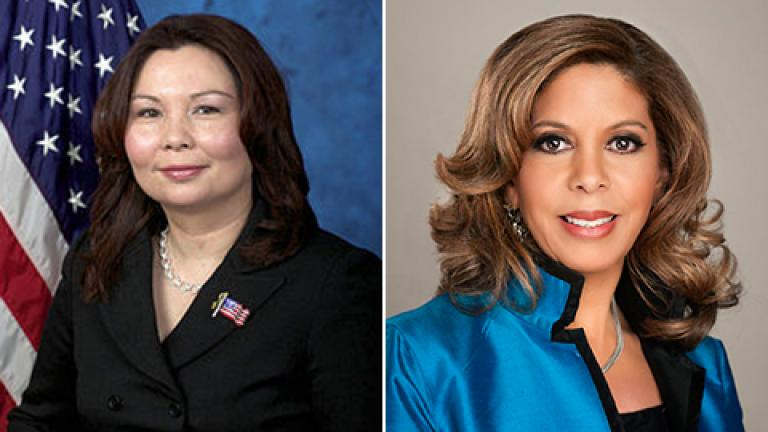 Tammy Duckworth, left, and Andrea Zopp