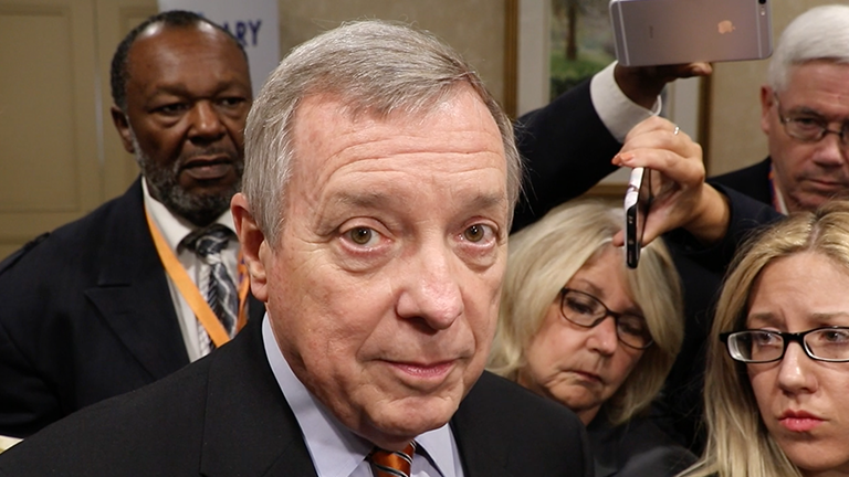 U.S. Sen. Dick Durbin (Evan Garcia / Chicago Tonight)