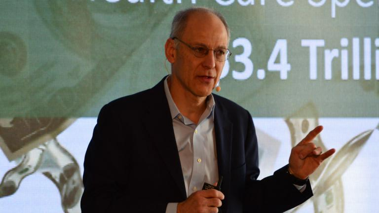 Dr. Ezekiel Emanuel talks about the future of health care in America Thursday, Oct. 18, 2018. (Kristen Thometz / Chicago Tonight)