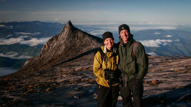 Alison Newberry and Matt Sparapani in Mount Kinabalu, Borneo. (Courtesy of Alison Newberry and Matt Sparapani)