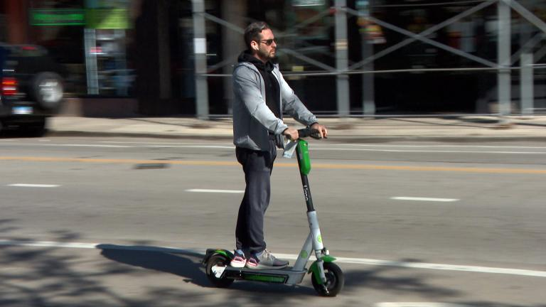 Chicagoans took approximately 540,000 rides on electric scooters during a four-month second trial run in 2020, officials said. (WTTW News)