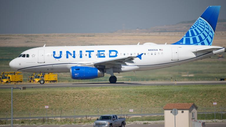 In this July 2, 2021 file photo, a United Airlines jetliner taxis down a runway for take off from Denver International Airport in Denver. (AP Photo / David Zalubowski, file)
