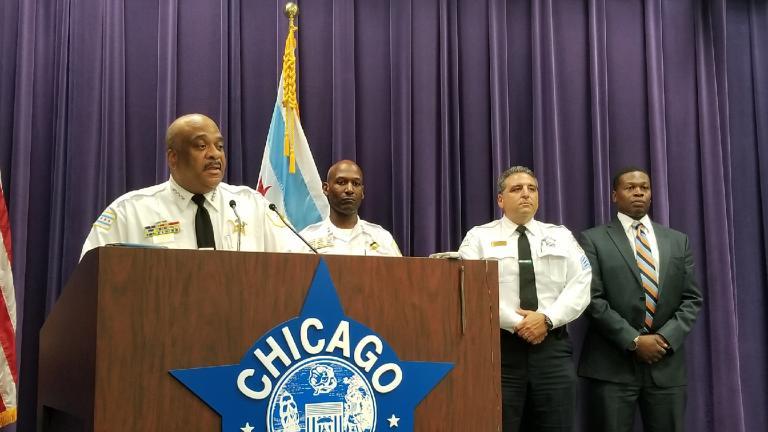 Police Superintendent Eddie Johnson speaks to the press on Sunday, July 15, 2017. (Matt Masterson / Chicago Tonight)