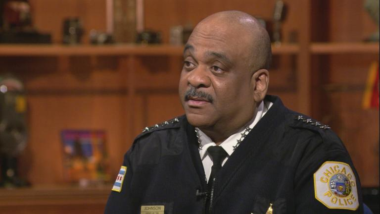 "Chicago Police Superintendent Eddie Johnson appears on ""Chicago Tonight"" on Nov. 14, 2019. (WTTW News)"