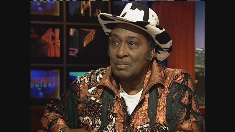 "Eddy ""The Chief"" Clearwater appears on ""Chicago Tonight"" in 2008."