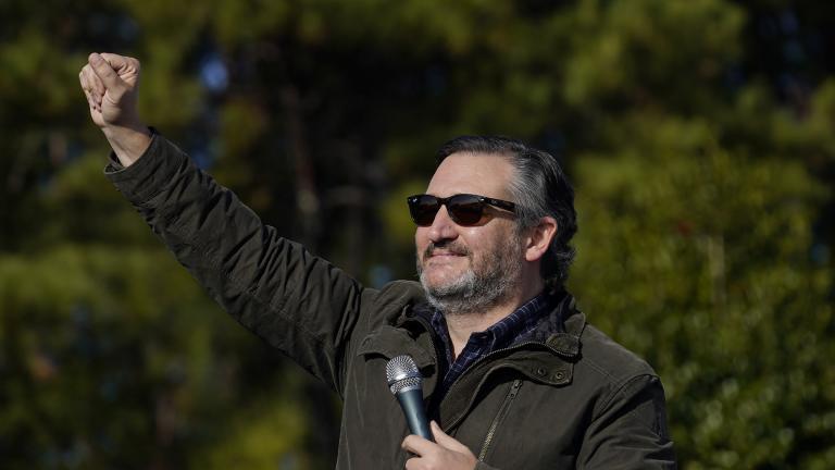 Sen. Ted Cruz, R-Texas, greets a crowd before he speaks at a campaign rally for Sen. Kelly Loeffler, R-Ga., on Saturday, Jan. 2, 2021, in Cumming, Ga. (AP Photo / Brynn Anderson)