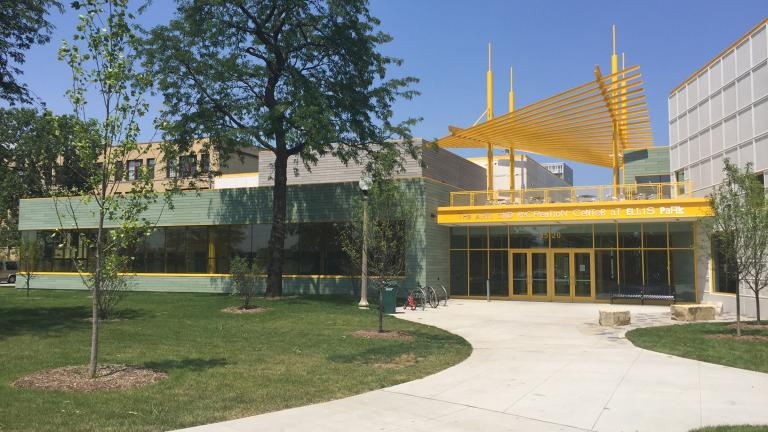 The new Arts and Recreation Center at Ellis Park. (Eddie Arruza / Chicago Tonight)