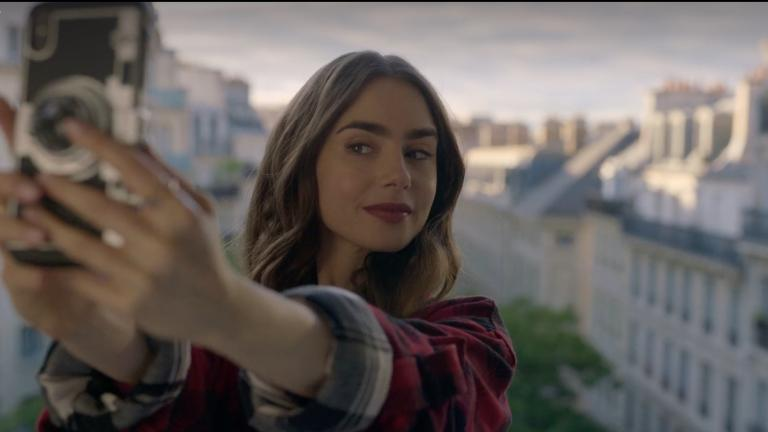 "Lily Collins as the titular Emily in ""Emily in Paris."" (Netflix)"