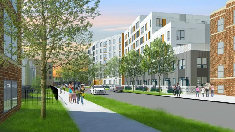 A rendering of the Emmett Street Project slated for Chicago's Logan Square neighborhood. (Bickerdike Redevelopment Corporation)