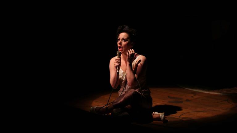 """Angela Ingersoll as """"Judy Garland"""" (Photo by Kelsey Jorissen)"""