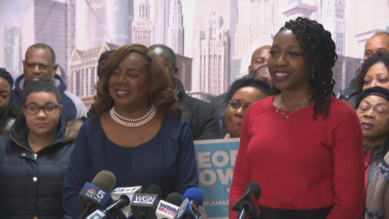 Cook County Clerk Dorothy Brown announces her endorsement of Amara Enyia for Chicago mayor.