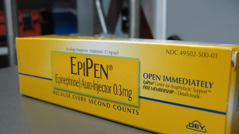 As public outcry over the cost of EpiPen continues, Mylan announces it will create a generic version of the brand name life-saving drug.(Intropin via Wikimedia Commons)