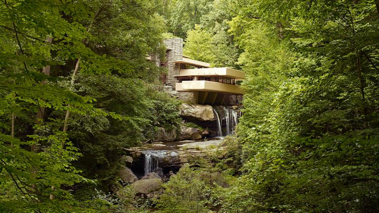 Frank Lloyd Wright-designed Fallingwater in Mill Run, Pennsylvania.