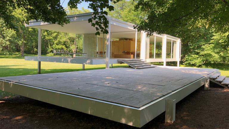 Ludwig Mies van der Rohe's Farnsworth House in Plano, Illinois.