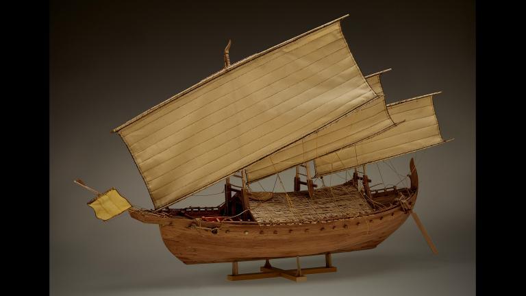 Model of the Java Sea shipwreck, built by Nicholas Burningham (John Weinstein / The Field Museum)