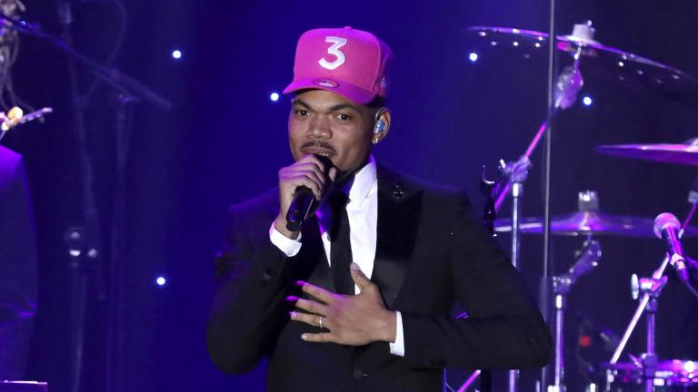 Chance the Rapper performs on stage at the Pre-Grammy Gala And Salute To Industry Icons on Jan. 25, 2020, in Beverly Hills, Calif. (Photo by Willy Sanjuan / Invision / AP, File)