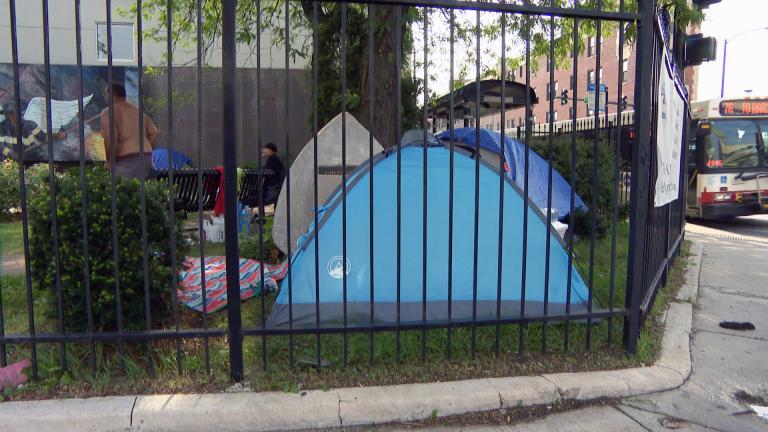 Fireman's Park in the Avondale neighborhood of Chicago. (WTTW News)