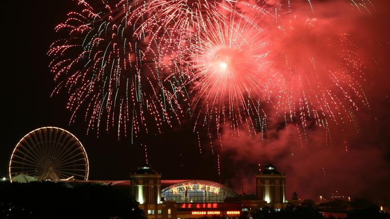 Navy Pier summer fireworks in 2011. (Michael Mayer / Flickr)