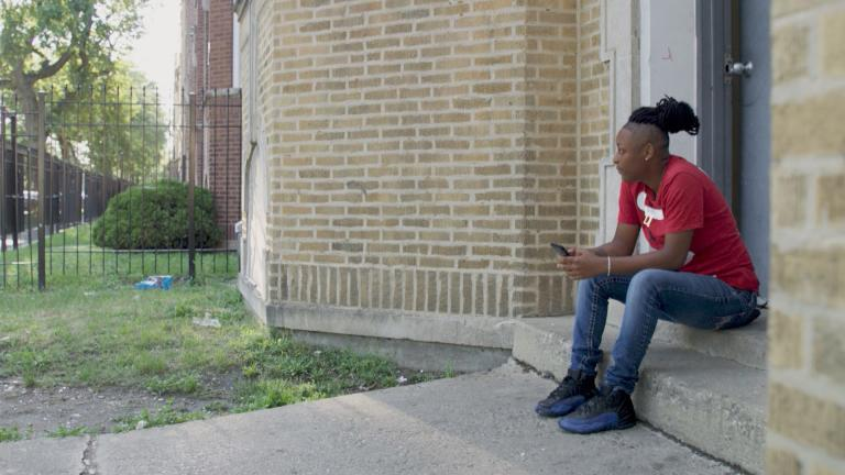 """A still image taken from """"Firsthand: Living in Poverty."""" (WTTW)"""