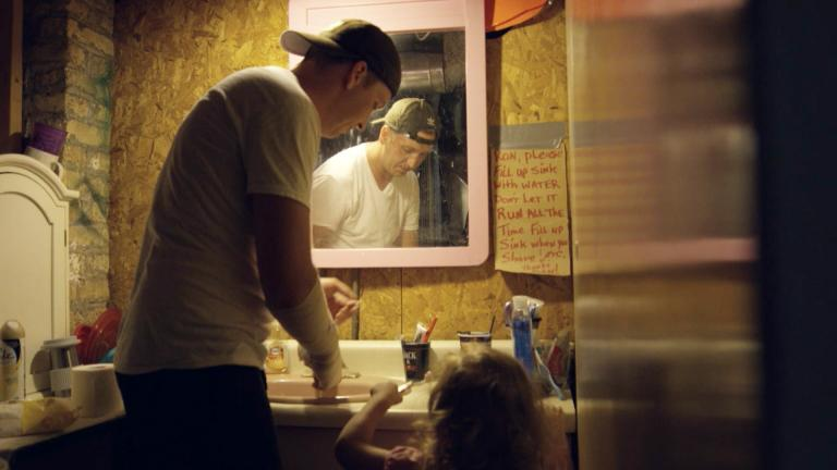 "A still image taken from ""Firsthand: Living in Poverty."" (WTTW)"