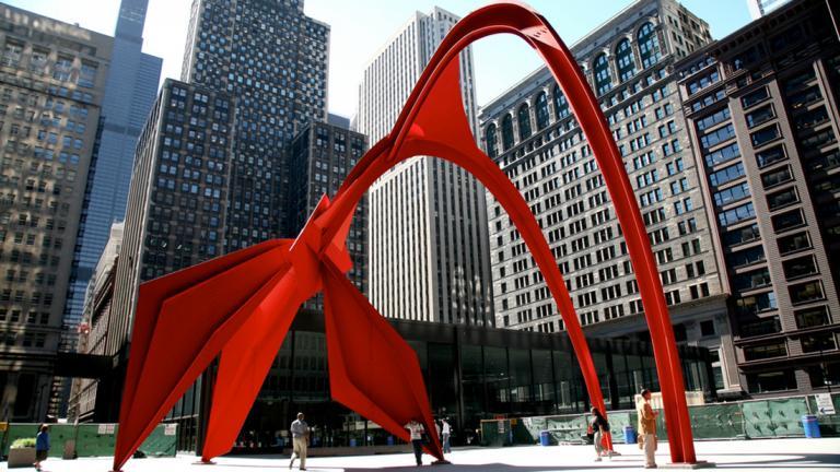 """Alexander Calder, """"Flamingo"""" (vincent desjardins / Flickr)"""