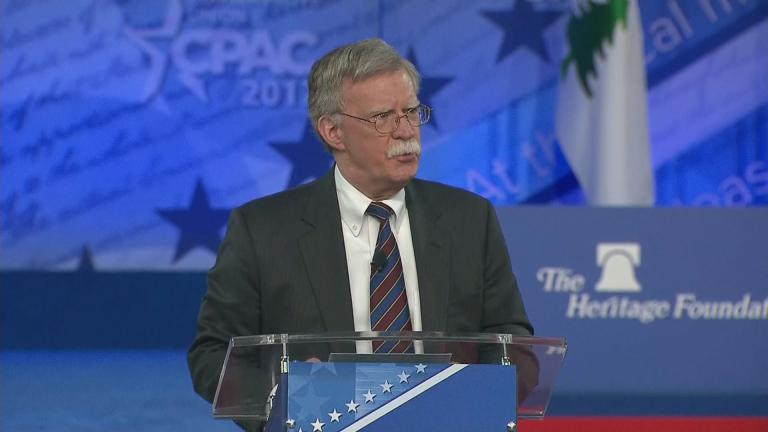 President Donald Trump has named John Bolton, President George W. Bush's United Nations ambassador, to be his next national security adviser.