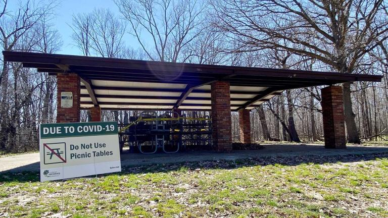 "Parks and preserves are tightening restrictions due to a surge in COVID-19 cases. In the spring, even picnic tables were ""closed."" (Raed Mansour / Flickr)"