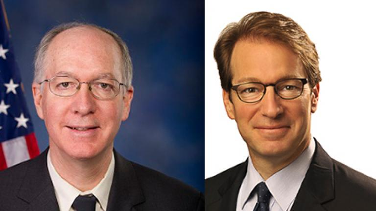 Congressmen Bill Foster, left, and Peter Roskam