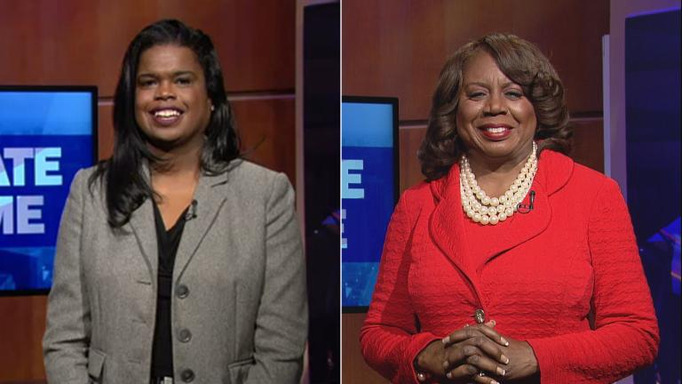 Kim Foxx, left, and Dorothy Brown. (Chicago Tonight)