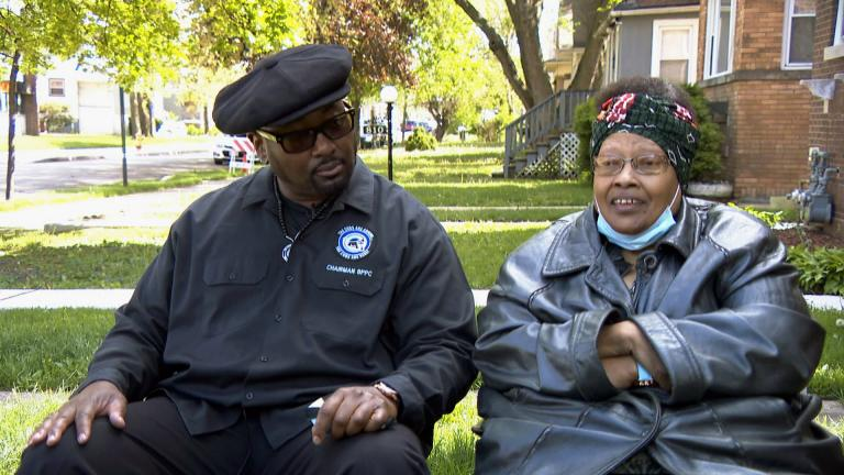 "Fred Hampton Jr. and Akua Njeri speak with Brandis Friedman for ""Black Voices."" (WTTW News)"