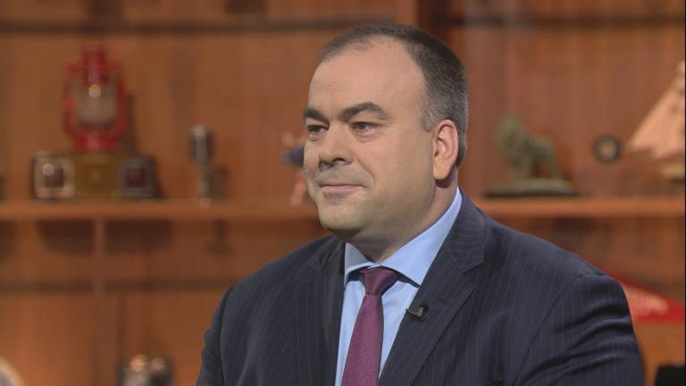 "Fritz Kaegi appears on ""Chicago Tonight"" on Jan. 3, 2019."