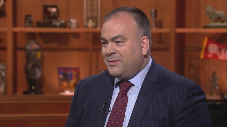 "Fritz Kaegi appears on ""Chicago Tonight"" on June 26, 2019."