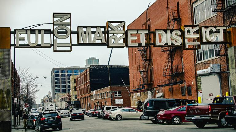 Chicago's Fulton Market District in 2015. (Seth Anderson / Flickr)