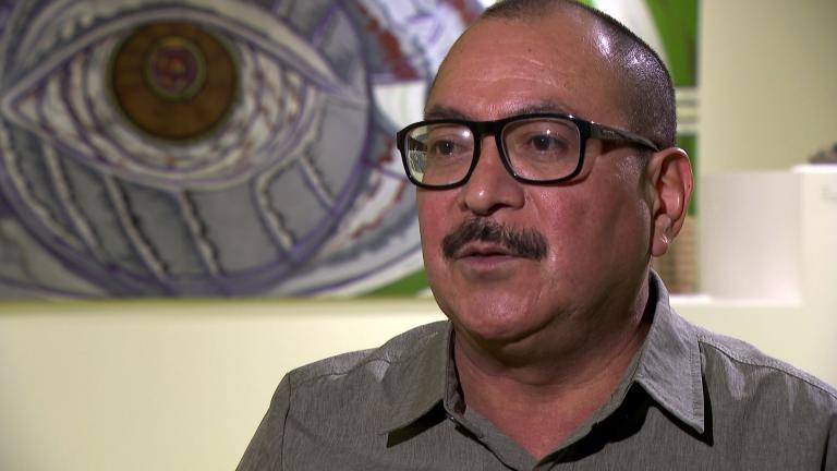 """Artist Gabriel Villa speaks with """"Chicago Tonight."""" (WTTW News)"""