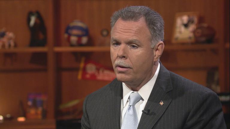 "Garry McCarthy appears on ""Chicago Tonight"" on Feb. 20, 2018."