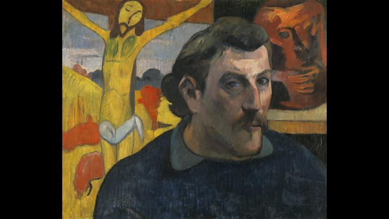 Paul Gauguin. Portrait of the Artist with the Yellow Christ, 1890–91. Musée d'Orsay, Paris, acquired by the national museums with the participation of Philippe Meyer and a Japanese sponsorship coordinated by the newspaper Nikkei, 1994.