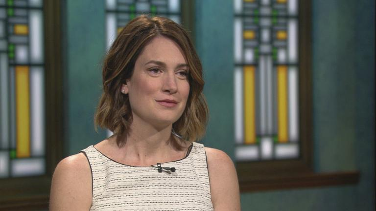 "Gillian Flynn appears on ""Chicago Tonight"" on July 12, 2018."