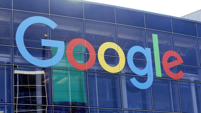 In this Sept. 24, 2019, file photo a sign is shown on a Google building at their campus in Mountain View, Calif. (AP Photo / Jeff Chiu, File)