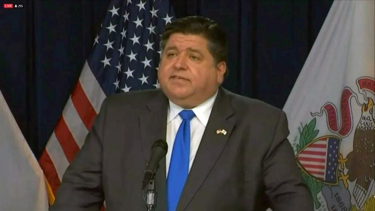 Gov. J.B. Pritzker speaks at his daily COVID-19 briefing on Oct. 30, 2020. (WTTW News)